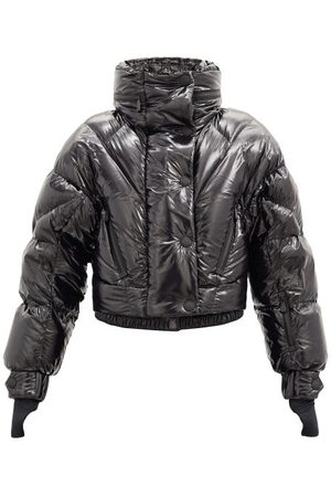 MONCLER GRENOBLE Hooded Quilted Down Cropped Jacket - Womens