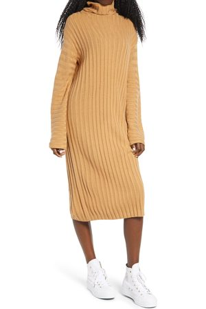 BP. Women's Ribbed Long Sleeve Sweater Dress