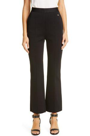 Givenchy Women's Crop Flare Leg Milano Knit Pants