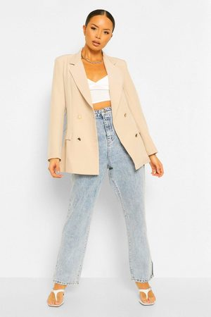 Boohoo Womens Double Breasted Military Blazer - - 2