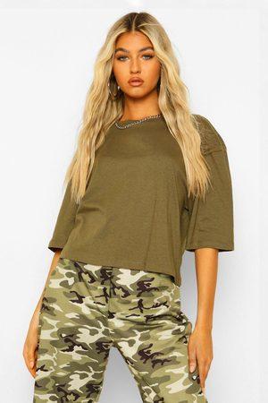 Boohoo Womens Tall Basic Crop T-Shirt - - 2