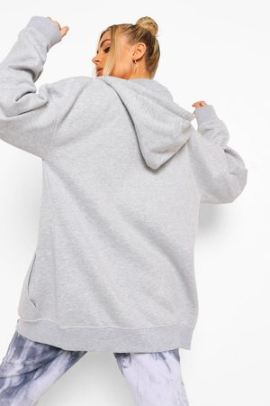 Boohoo Womens Basic Oversized Zip Through Hoody - - 4