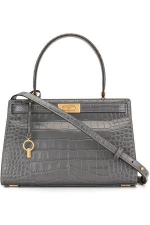 Tory Burch Crocodile embossed satchel - Grey