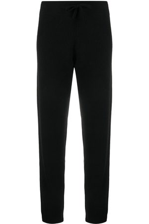Cashmere In Love Ribbed-knit track pants