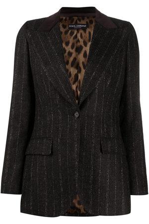 Dolce & Gabbana Pinstripe peak-lapel single-breasted blazer
