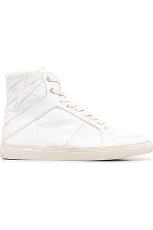 Zadig & Voltaire Hi-top leather trainers