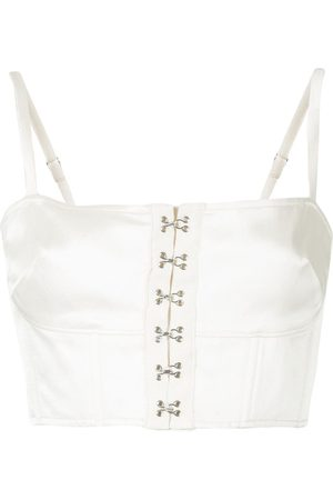 FLEUR DU MAL Hook-fastened bustier top - Neutrals