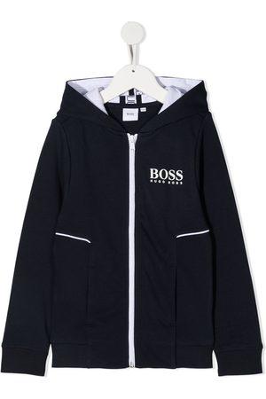 HUGO BOSS Logo-print zipped hoodie