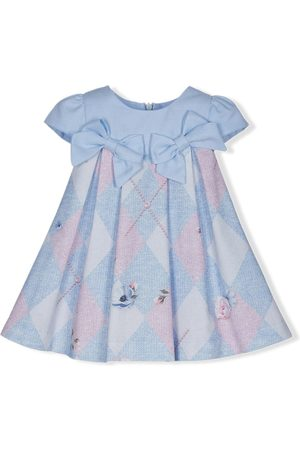Lapin House Baby Printed Dresses - Argyle check print dress