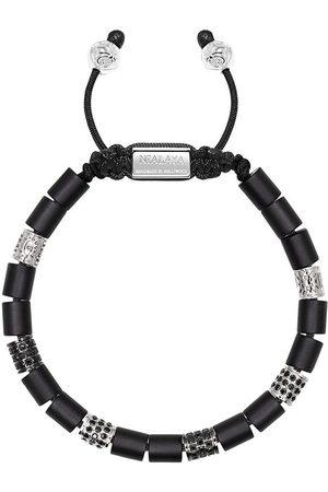 adidas Adjustable beaded onyx bracelet