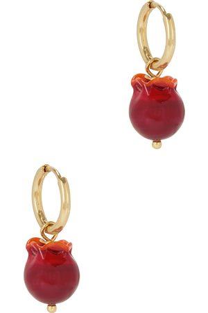 SANDRALEXANDRA Women Earrings - Mini Pomegranate 18kt gold-plated hoop earrings