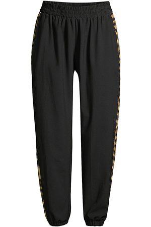 Terez Women's Leopard Goals Track Pants - - Size Large