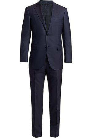 Ermenegildo Zegna Men's Trofeo Wool & Silk Suit - Navy - Size 40