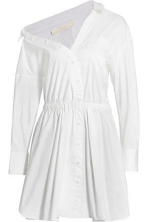By Any Other Name Women Strapless Dresses - Falling Off-The-Shoulder Mini Shirtdress