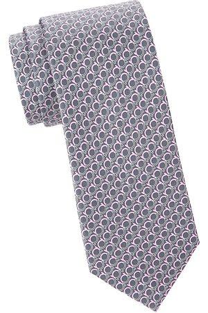 Salvatore Ferragamo Men's Large Gancini Silk Tie