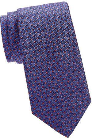 CANALI Men's Micro Floral Silk Tie