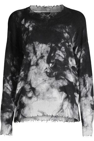 MINNIE ROSE Women's Tie-Dye Distressed Crewneck Sweatshirt - - Size Large