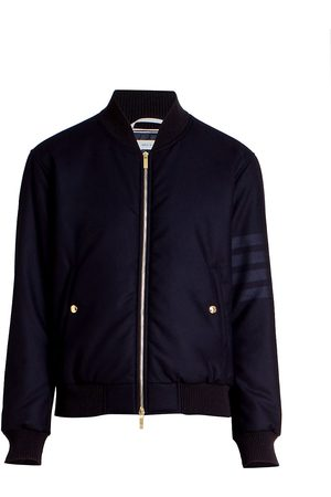 Thom Browne Men's Wool Tech Down Zip-Front Bomber Jacket - - Size 3 (Large)