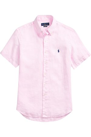 Polo Ralph Lauren Men Polo Shirts - Classic-Fit Linen Short-Sleeve Shirt