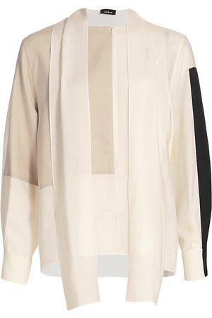 AKRIS Women's Patchwork Wool Cardigan - - Size 6