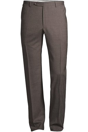 CANALI Men Stretch Pants - Stretch Wool Trousers