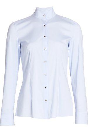 AKRIS Women's Stretch-Cotton Poplin Shirt - - Size 4