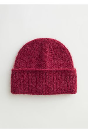 & OTHER STORIES Fuzzy Wool Blend Knitted Beanie