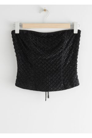 & OTHER STORIES Beaded Criss Cross Corset Top