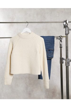 Miss Selfridge Sweater with cable cuff in neutral
