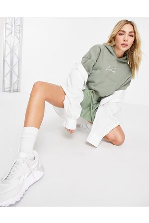 The Couture Club Signature cropped hoodie in khaki