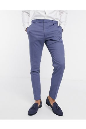 ASOS Wedding super skinny suit pants with micro texture in mid