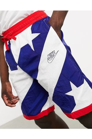 Nike Throwback shorts in stars and stripes print-Multi