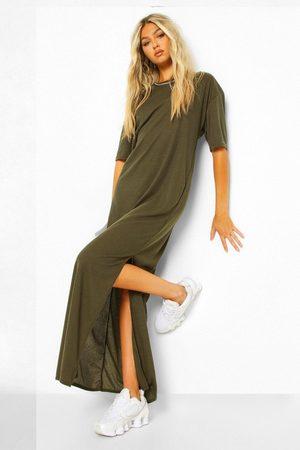 Boohoo Womens Tall Rib Side Split Maxi Dress - - 2