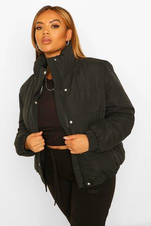 Boohoo Womens Plus Funnel Neck Puffer Jacket - - 12