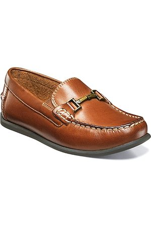 Florsheim Boys Loafers - Boys' Jasper Bit Jr. Leather Moccasins - Toddler, Little Kid, Big Kid