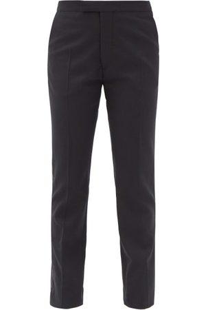 RAF SIMONS Side-stripe Wool-blend Twill Straight-leg Trousers - Womens