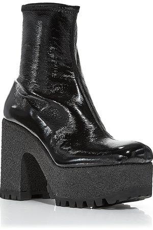 Miu Miu Women Heeled Boots - Patent Platform Booties