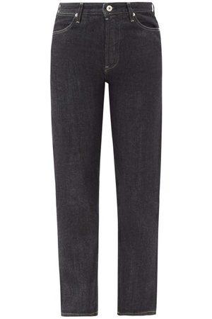 Jil Sander High-rise Cropped Straight-leg Raw-denim Jeans - Womens - Denim