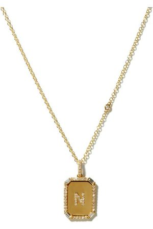 Shay Nameplate Diamond & 18kt Necklace (n-z) - Womens