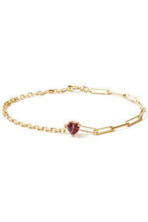 YVONNE LÉON Rhodolite & 18kt Heart Bracelet - Womens
