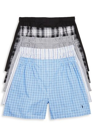 Polo Ralph Lauren Woven Boxers, Pack of 5