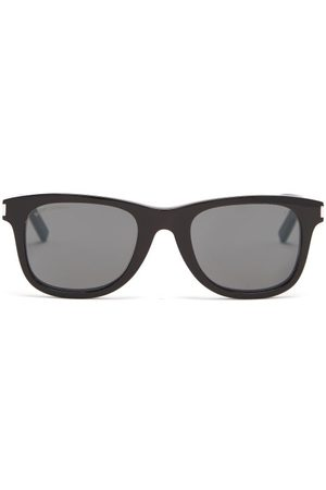 Saint Laurent Men Aviators - Square Acetate Sunglasses - Mens