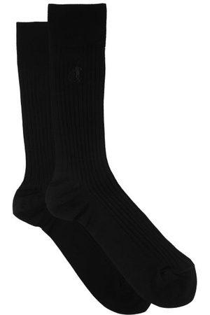 London Sock Company Simply Sartorial Rib-knitted Cotton-blend Socks - Mens