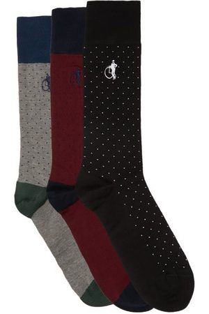 London Sock Company Spot Of Style Pack Of Three Cotton-blend Socks - Mens - Multi