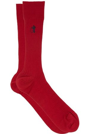 London Sock Company Simply Sartorial Logo-embroidered Socks - Mens