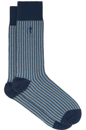 London Sock Company Shaken & Stirred Checked Cotton-blend Socks - Mens - Multi