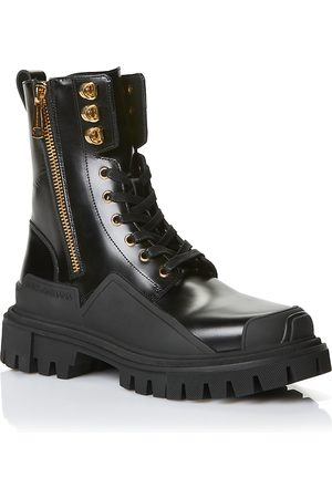 Dolce & Gabbana Women's Short Zip-Up Combat Boots