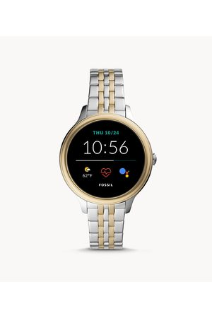 Employee Discount Exclusions Fossil Women's Gen 5E Smartwatch Two-Tone Stainless Steel