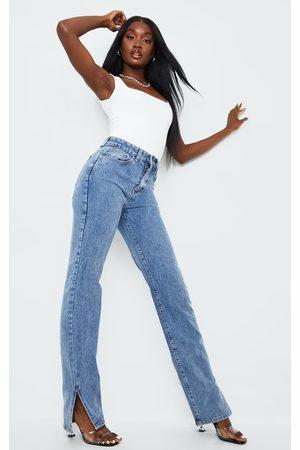 PRETTYLITTLETHING Tall Vintage Wash Split Hem Jeans