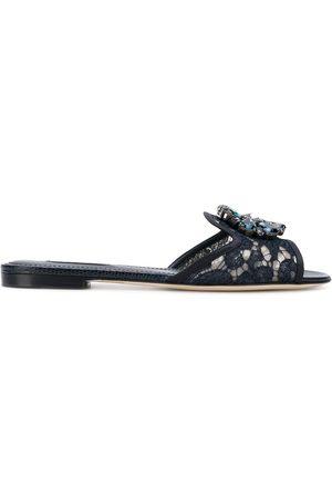 Dolce & Gabbana Crystal-embellished lace sandals
